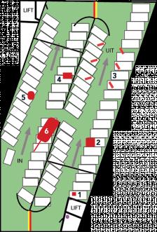 Turfschip parkeergarage verdieping GROEN