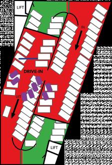 Turfschip parkeergarage verdieping ROOD