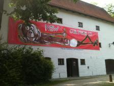 Banner op die Neue Galerie